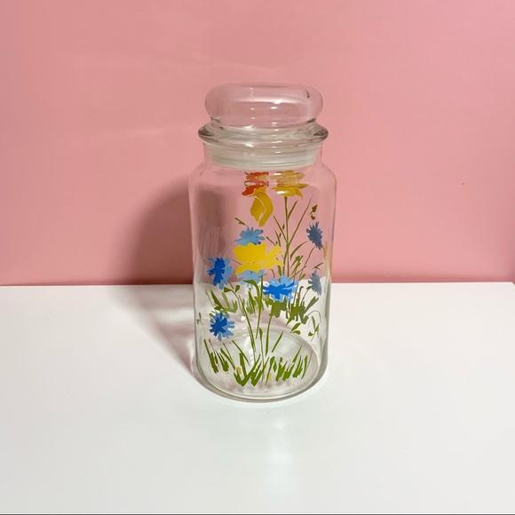 Vintage funky floral jar canister